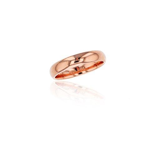 (Decadence 14K Rose Gold 5mm Polished Plain Wedding Band, Size 7)