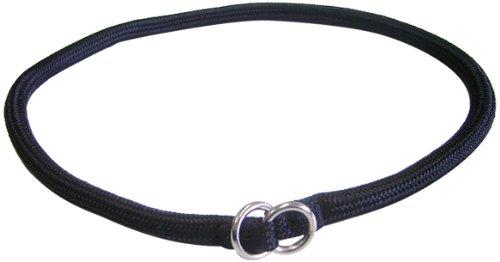 Hamilton 830 BK 5/16-Inch by 22-Inch Round Braided Choke Nylon Dog Collar, Black