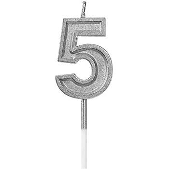 Amazon.com: Velas de cumpleaños grandes y extendidas de 2.76 ...