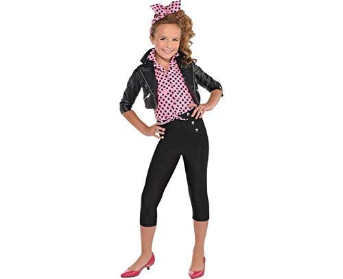 Amscan Greaser Girl 50S Costume, X-Large (14-16), Multicolor ()