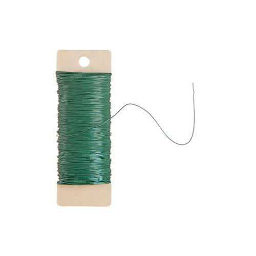 Darice Paddle Wire, 22-Gauge, Green, 38 Yards ()