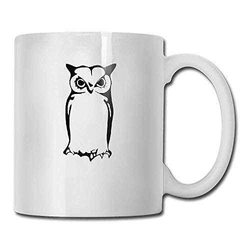 PIHJE mugs Wise Old Halloween Owl Tea Cup Novelty Gift for Birthday