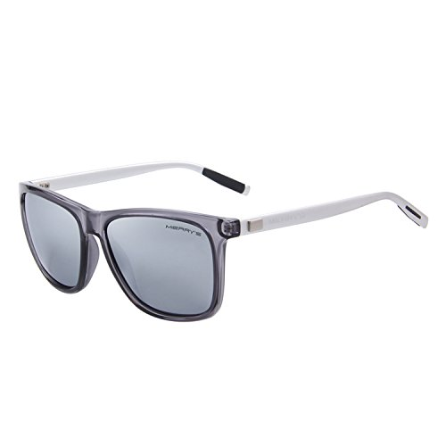 MERRY'S Unisex Polarized Aluminum Sunglasses Vintage Sun Glasses For Men/Women S8286 (Silver, -
