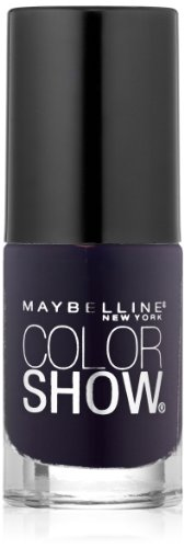 Maybelline New York Color Show Nail Lacquer, Midnight Blue, 0.23 Fluid (Midnight Nail Lacquer)