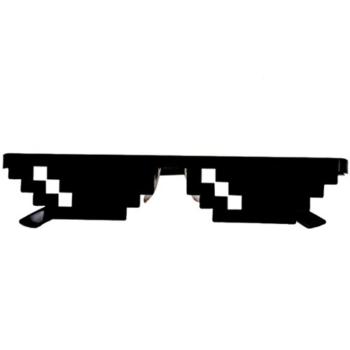 Boyiya Toy, Men Women Goggles Glasses Thug Life 8 Bit Pixel Deal With IT Sunglasses Unisex Sunglasses Toy - Sunglasses It Deal 8 With Bit