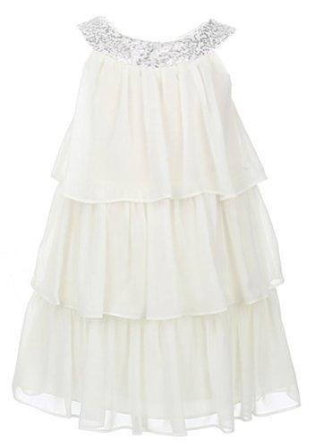 Sweet Kids Little Girls' Triple Tiered Chiffon Dress 4 Of...