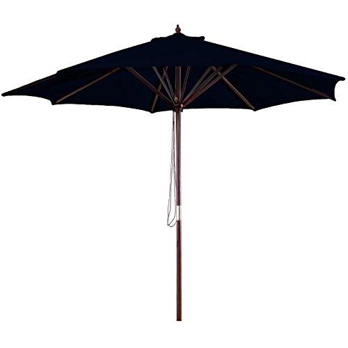 Jordan Manufacturing Wood Market Umbrella Black 7 Wooden Market Umbrella