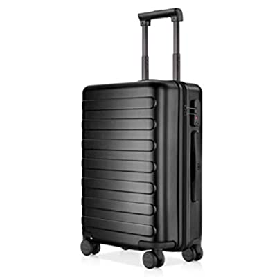 Image of Luggage NINETYGO 20 Inch Carry On Luggage, 100% Polycarbonate Hardside Suitcase Luggage With TSA Approved Lock for Business & Travel, 360° Rolling Spinner Wheels, Unexpandable, Black