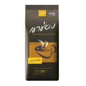 Khao Shong Instant Coffee Beans Thai Agglomerated Roasted Beans Good Quality in Home & Kitchen 200g.