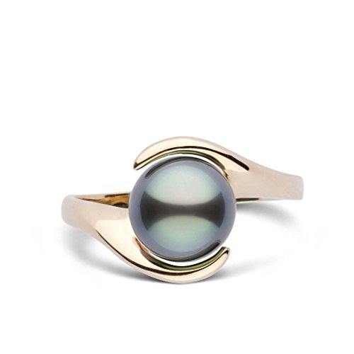 Embrace Collection Tahitian Cultured Pearl Ring - 14K Yellow Gold - Ring Size 7