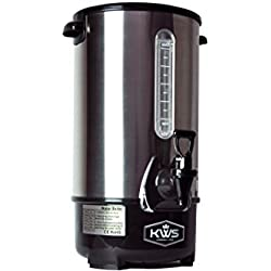 KWS WB-30 19.5L/83Cups Commercial Heat Insulated Water Boiler and Warmer Stainless Steel (Silver)