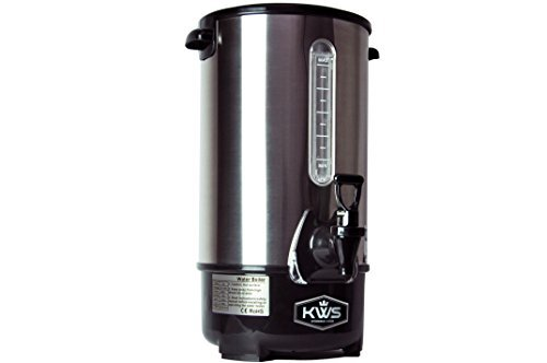 KWS WB-10 9.7L/ 41Cups Commercial Heat Insulated Water Boiler and Warmer Stainless Steel (Silver) by KitchenWare Station