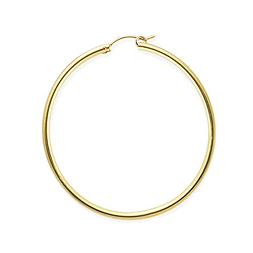 Designs by Nathan, 14K Yellow Gold Filled Seamless Classic Notch Hoop Tube Earrings, Many ()