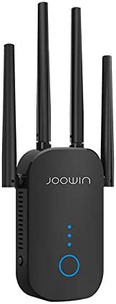 JOOWIN WiFi Extender, Up to 1200Mbps WiFi Range Extender, WiFi Signal Repeater, 2.4 & 5GHz Dual Band,External Antennas & Compact Designed Internet Extender