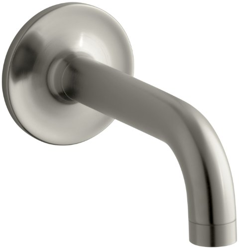 KOHLER K-14427-BN Purist Wall-Mount Non-Diverter Bath Spout, 90 Degrees, Vibrant Brushed (Nickel Purist Wall Mount)