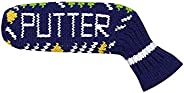 Scott Edward 1Pcs Golf Putter Cover Elastic Knitted Adorable and Basically Socks Shape,Washable & Durable