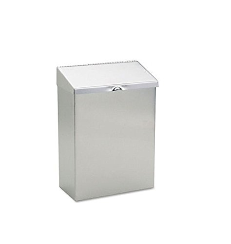 ible Sanitary Napkin Receptacle, 8 x 4 x 11, Stainless Steel (Wall Mount Convertible Sanitary Napkin)