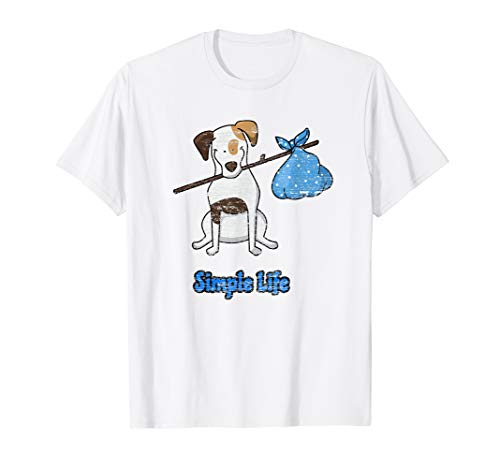 Simple Life Distressed Beagle Puppy Dog Hobo Tee Shirt ()