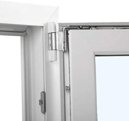 Ventana PVC 100 cm x 100 cm | Kommerling | 2 hojas | Oscilobatiente | Alto aislamiento termico y acustico | Vidrio doble hoja Climalit | Practicable | Resistente al sol | Apertura Derecha: Amazon.es: Bricolaje y herramientas