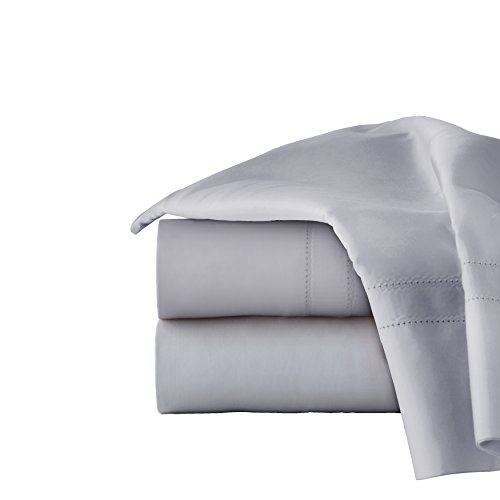 Oversized Flat Sheet - Pointehaven 620-KGR 620TC Long Staple Cotton Deep Pocket Oversized Sheet Set,Grey,King