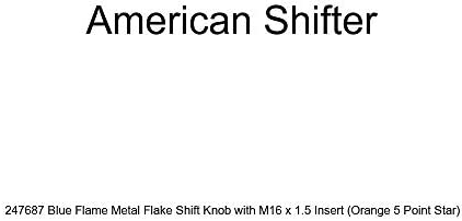 White Bulldog Angry American Shifter 267174 Green Flame Metal Flake Shift Knob with M16 x 1.5 Insert