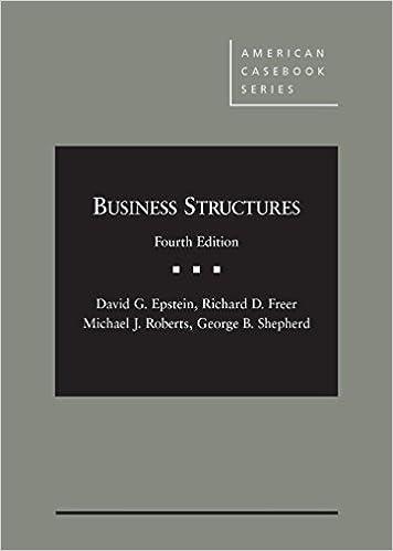 Business Structures – CasebookPlus (American Casebook Series)