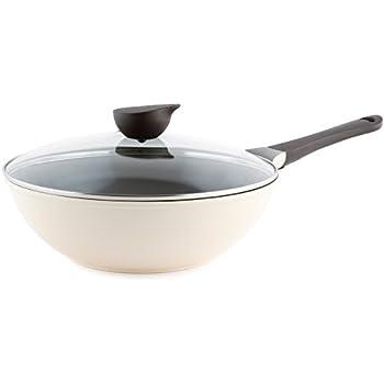 Amazon Com Wok Chef S Pan With Glass Lid 12 Inch