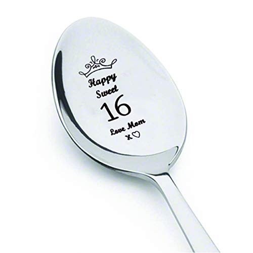 Sweet 16 Souvenirs (Sweet 16 with crown engraved,Best Selling Gift,16th birthday gift,16th birthday,16th birthday,sweet sixteen,sweet sixteen gifts,engraved)