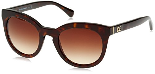 D&G Dolce & Gabbana Women's 0DG4249 Square Sunglasses, Havana, 50 - Frames Optical D&g