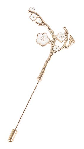 Flairs New York Gentleman's Essentials Premium Handmade Flower Lapel Pin Boutonniere (White Plum ()