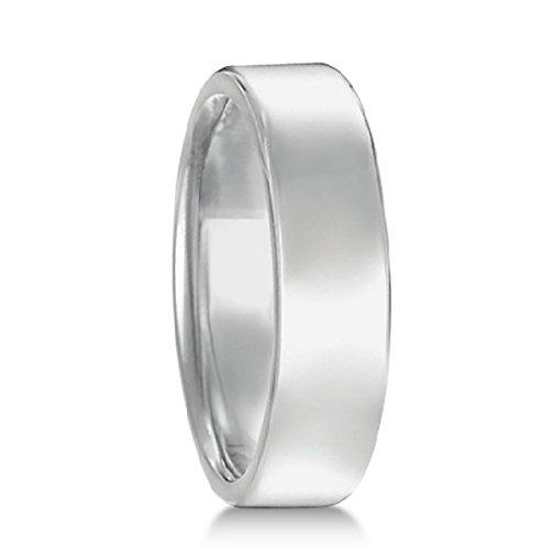 - Euro Dome Comfort Fit Wedding Ring Men's Band in Palladium (5mm)