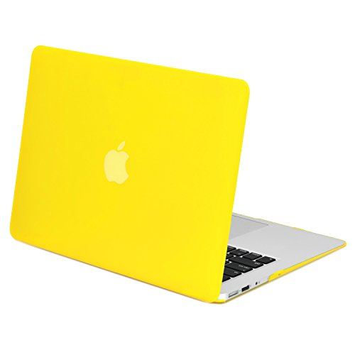 TopCase Rubberized Hard Case Cover for Macbook Air 11 (A1370 and A1465) with TopCase Mouse Pad (Yellow)