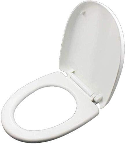 CXMWYトイレのふた ミュート付き便座U/Vシェイプユニバーサルトイレのふたは、超耐性便座カバー、ホワイト-V-36.3 * 47.3センチメートルマウントされた抗菌PPボードのボトムをスローダウン