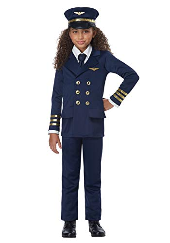Kids Airline Pilot Costume Large