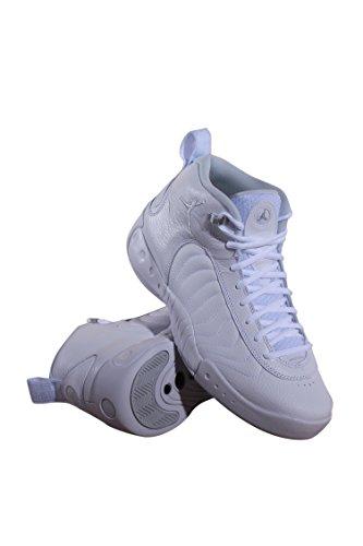 Jordan Nike Männer Jumpman Pro Basketballschuh Weiß Pure Platinum Metallic