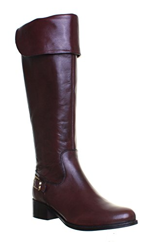 Brown 100 Justin Boots Riding Bette High Dark Leather Reece Knee Womens ZZqv4UBwx