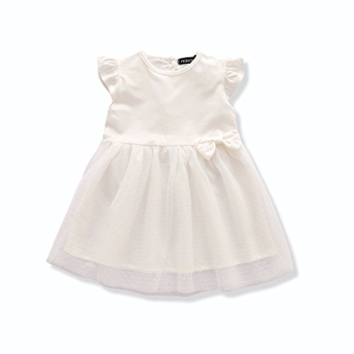 Baby White Dress (FERENYI US Baby Girls Clthes Baby Girl's Princess Dress White Cute Dresses (7-12 months, White))