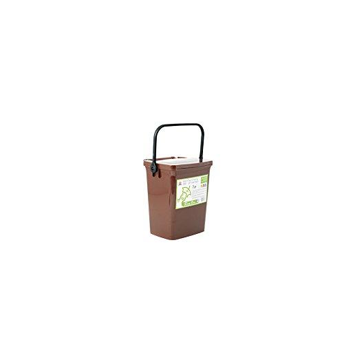 24.5x26.5x20.5 cm Marrone Home Ricybox Contenitore Umido con Coperchio 7 Litro