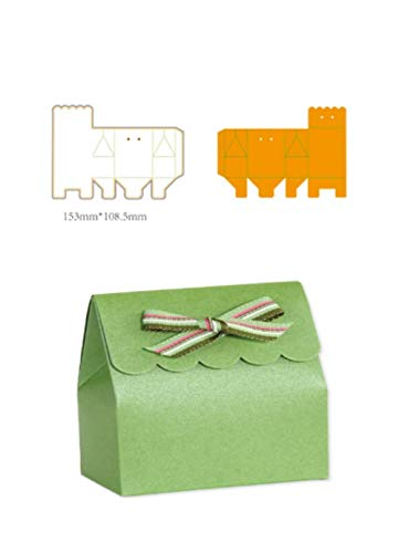 Gift Box Templates - Fellibay Scrapbooking Die-Cuts Paper Stencils Box Die-Cut Cartridges Paper Craft Tools Scrapbooking Tools Craft Paper Die-Cuts (153mm108.5mm)