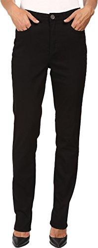 FDJ French Dressing Jeans Women's Supreme Denim Suzanne Slim Leg in Black Black Jeans, 14