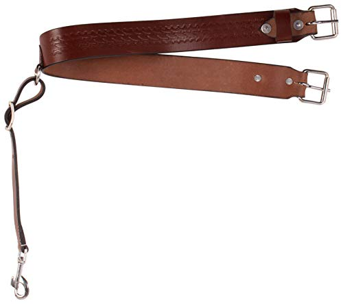 - AceRugs Hand Tooled Western Leather Saddle Back Cinch Rear Cinch Flank Strap (Standard)