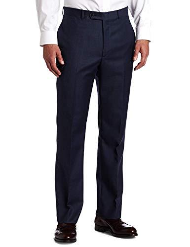 Tommy Hilfiger Mens Flat Front Trim Fit 100% Wool Suit Separate Pant, Blue, 32W x 32L