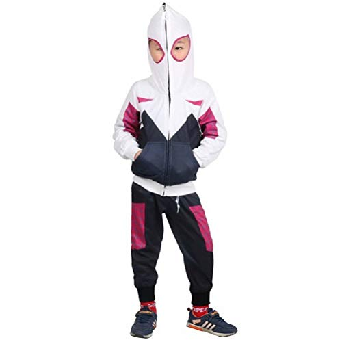 Tsyllyp Kids Boys Full-Zip Up Hoodies Pants Set Spidergwen Costume Cosplay