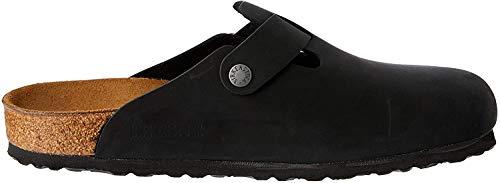 Birkenstock Boston 59461, Unisex - Erwachsene Sandalen, Schwarz (Black),42 EU