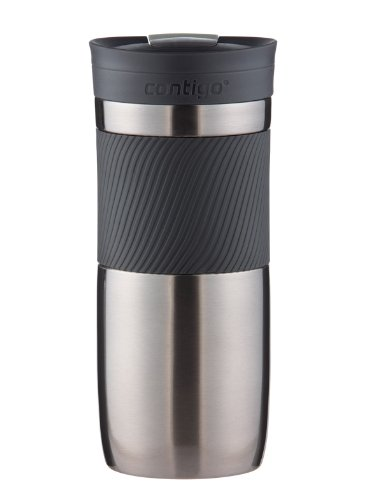 Contigo SnapSeal Byron Vacuum Insulated Stainless Steel Travel Mug, 16oz, Gunmetal
