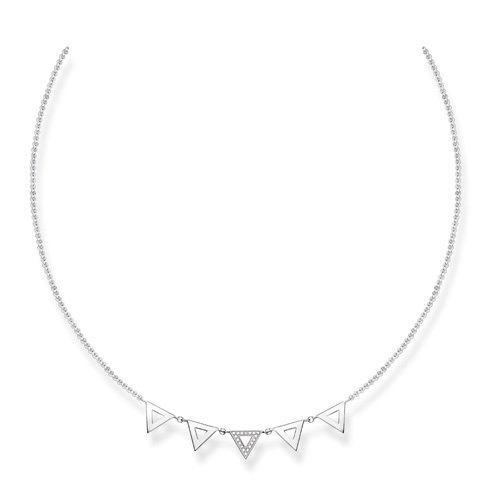 Thomas Sabo Femme  925  Argent|#Silver    Blanc Diamant FINENECKLACEBRACELETANKLET