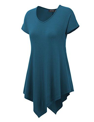 Womens Short Sleeve Solid Tie Dye