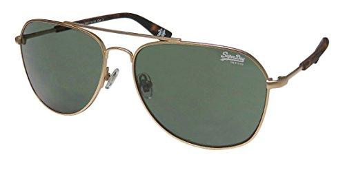 Superdry Sds Walker.rx Mens Aviator Full-rim 100% UVA & UVB Lenses Sunglasses/Eyewear (59-15-135, Matte Gold / - Sunglasses Case Superdry