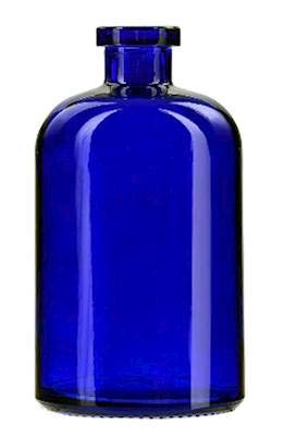 Courtney's Candles Cobalt Blue 13.5 Ounce Apothecary Glass Vase