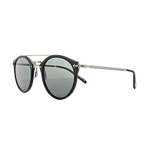 a35d77169b Oliver Peoples Unisex Remick Semi-Matte Black Antique Pewter Grey Sunglasses
